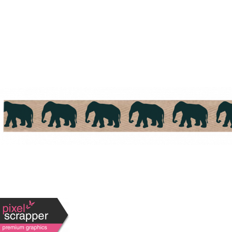 Twill Elephant Ribbon