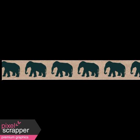 Twill Elephant Ribbon
