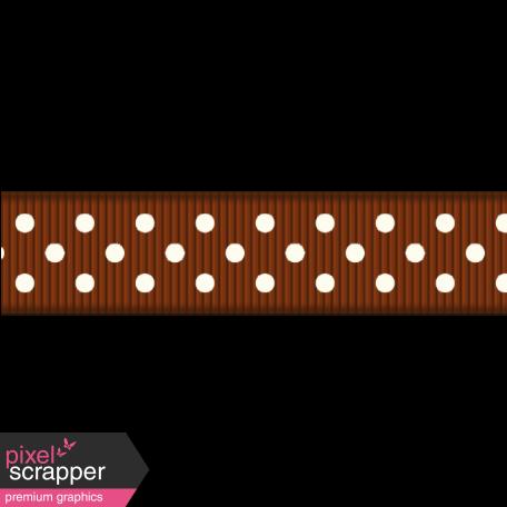 Medium Ribbon - Polka Dots 01 - Brown