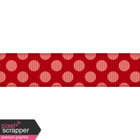 Medium Ribbon - Polka Dots 02 - Red