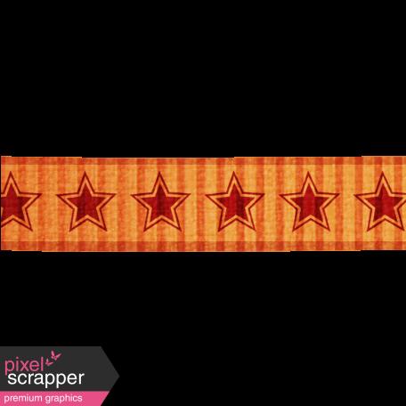 Star Ribbon - Orange & Red