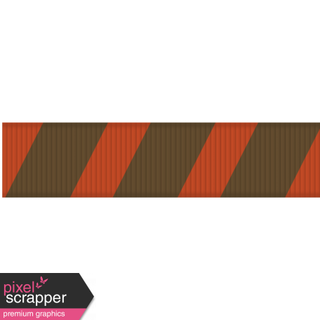 Medium Ribbon - Stripes 01 - Red & Brown