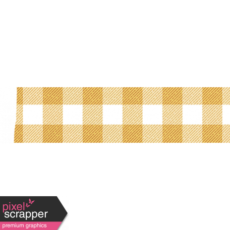 Yellow Gingham Washi Tape graphic by Janet Scott | Pixel ...