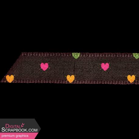 Sweet Autumn Hearts Ribbon Tag