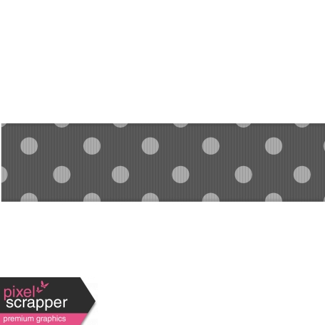 Fat Ribbon Template - Polka Dots 03