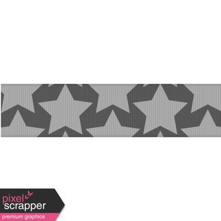 Fat Ribbon Template - Stars 01