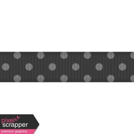 Thin Ribbon Template - Polka Dots 02