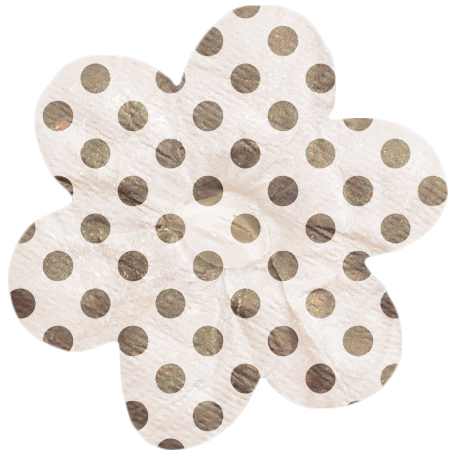 No Tricks, Just Treats - Tan and White Polkadot Flower