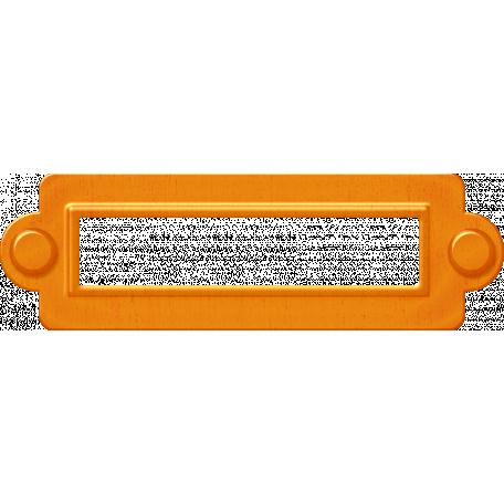 No Tricks, Just Treats-Orange Metal Book Plate