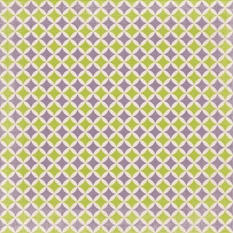 No Tricks, Just Treats-Purple And Green Retro Diamond Paper