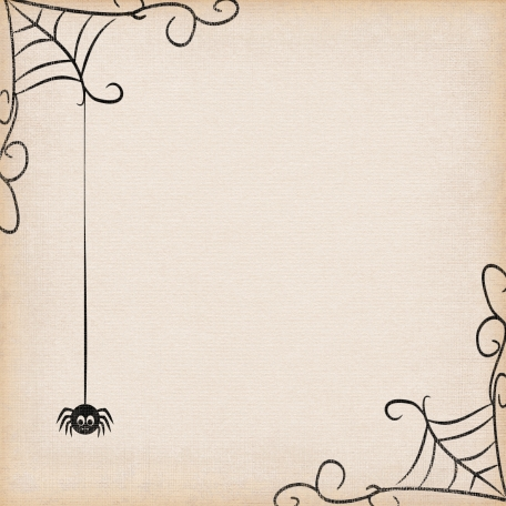 No Tricks, Just Treats-Spider And Web Paper