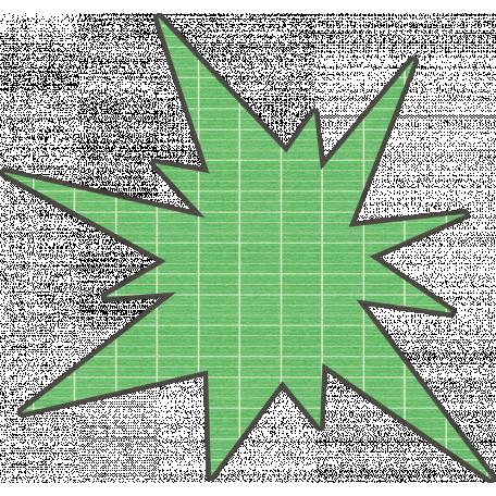 Speed Zone Elements Kit - Green Bomb Sticker