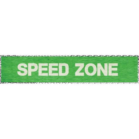 "Speed Zone Elements Kit - ""Speed Zone"" Label"