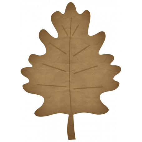 Turkey Time Elements Kit - Brown Paper Leaf