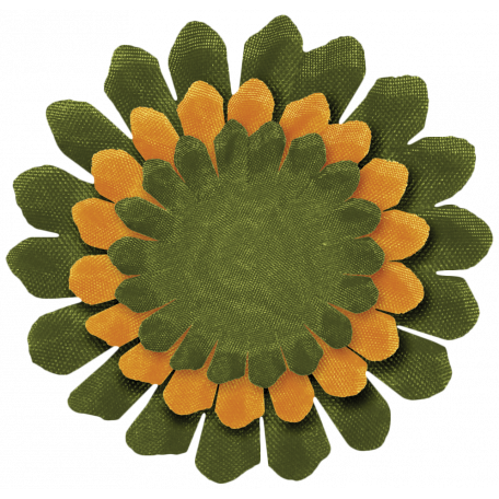 Turkey Time - Green & Gold Flower