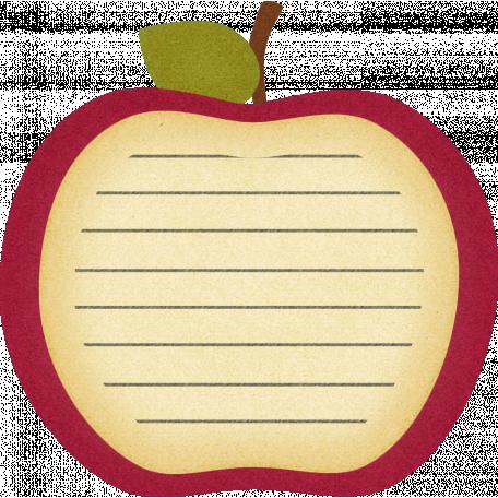 Thankful - Apple Slice Journal Tag