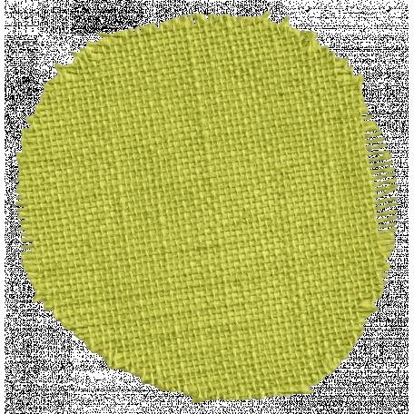 Thankful - Green Burlap Circle