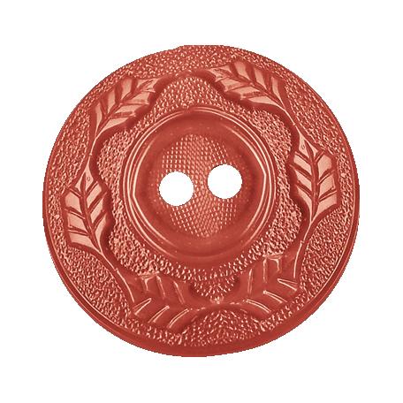 Sweet Valentine - Pink Leafy Button