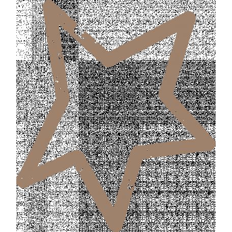 Lil Monster Brown Star Stamp Outline