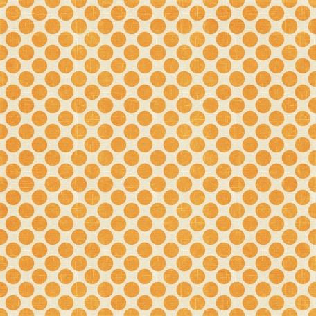 At The Beach - Orange Polkadots Paper