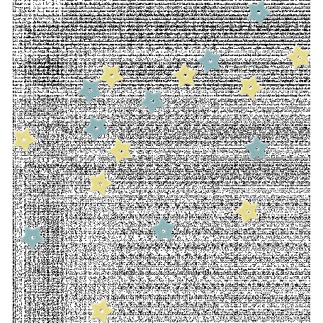Space Explorer - Yellow and Blue Plastic Confetti Stars