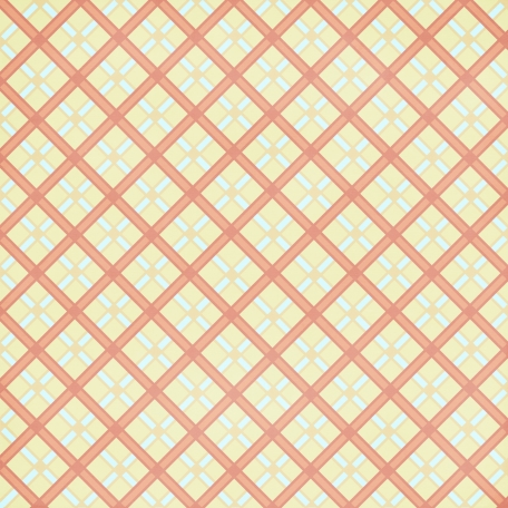 Argyle 14 Paper - Yellow & Coral