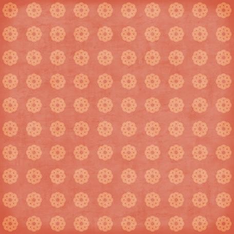 Circles 18 Paper - Peach & Coral