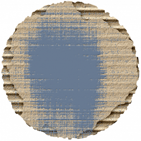 Footsteps Cardboard Circle - Blue