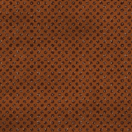 Polka Dots 23 Paper - Brown Glitter