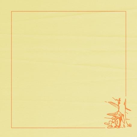 Beatrix Border Paper - Yellow