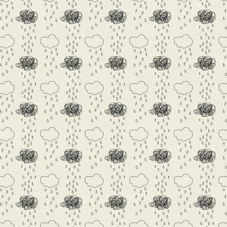Rain 01 Paper - White & Black