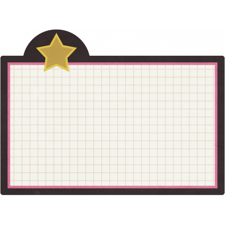 Star Index Card with Grid