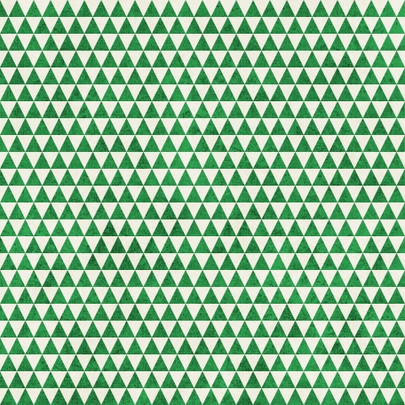 Geometric 23 Paper - Dark Green & White