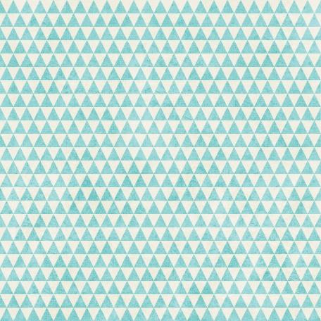 Geometric 23 Paper - Aqua & White