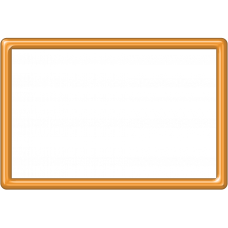 Orange Plastic Frame 4x6