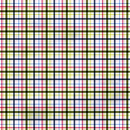 Plaid Paper 11 - Pink & Navy