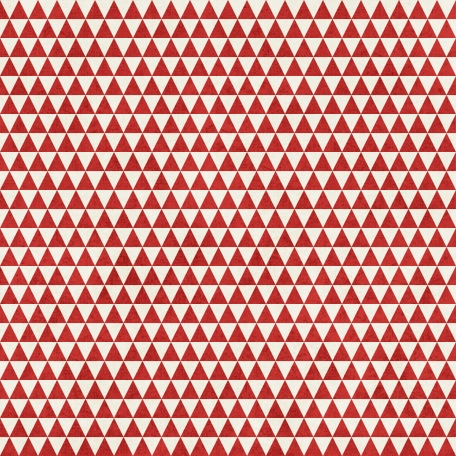 Geometric 23 Paper - Red & White