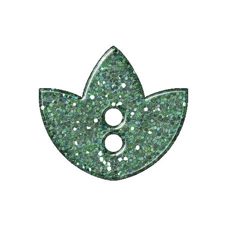 Paris Glitter Button - Teal