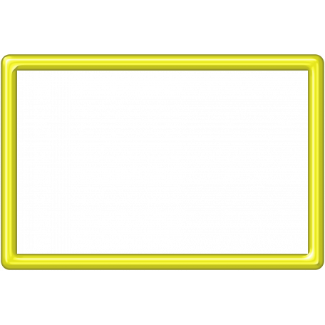 Yellow Plastic Frame 4x6