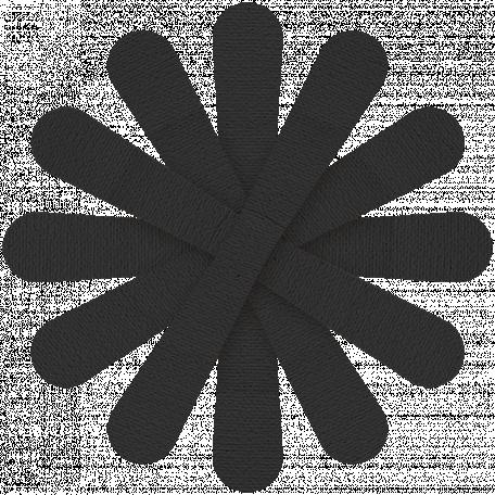Paper Flower 23 - Black