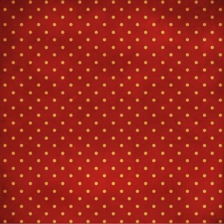 Polka Dots 08 Paper - Red & Orange