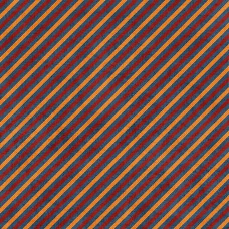 Stripes 73 Paper - Navy, Red & Orange