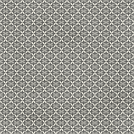 Damask 29 Paper - White & Gray