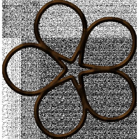 Wood Flower Outline