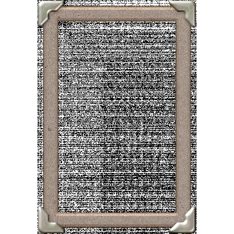Chipboard Silver Corner Frame