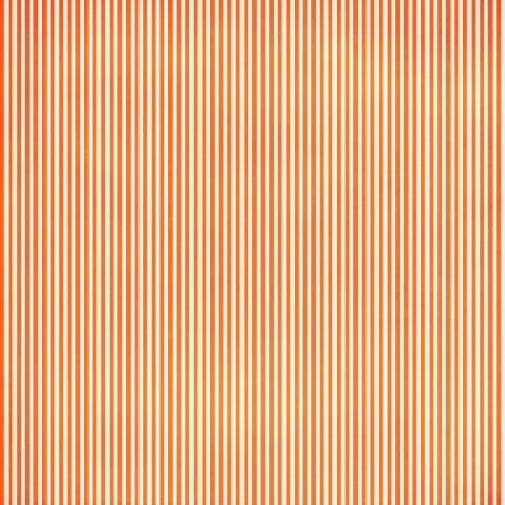 Stripes 54 Paper - Orange & White