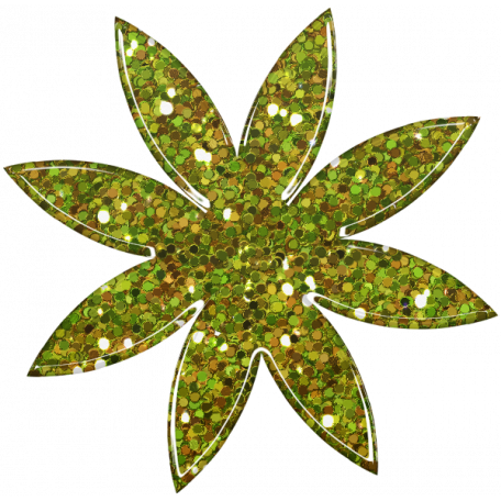 Sofia Glitter Flower - Green