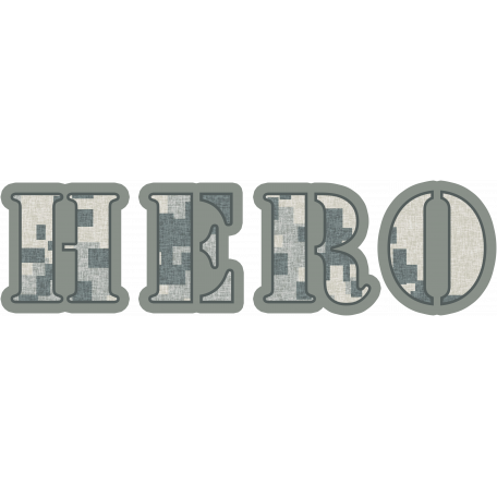 Air Force Hero Word Art