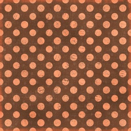 Polka Dots 35 Paper - Brown & Coral