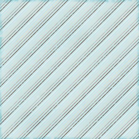 Stripes 53 Paper - Blue